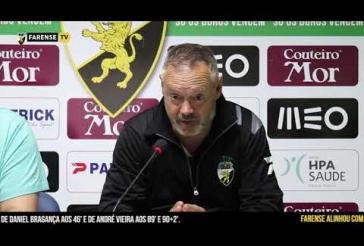 Sala de Imprensa - Rescaldo do encontro SC Farense 3-1 Estoril Praia